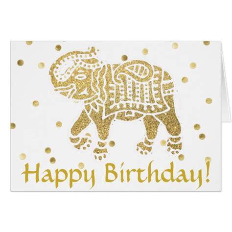 indian design happy birthday happy birthday indian golden elephant card zazzle com