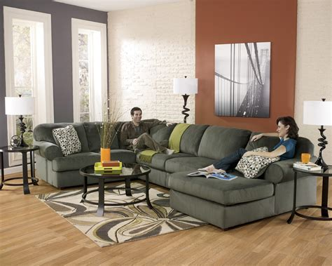 jessa place pewter sectional signature design by ashley jessa place pewter casual