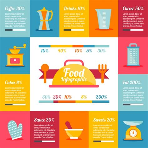 Kitchen Design Template food infographic template vector free download