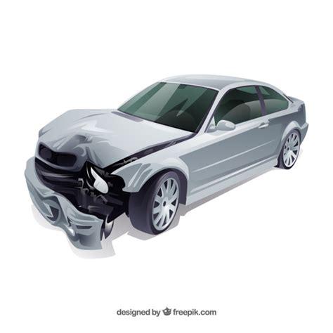 wrecked car transparent car crash vector free