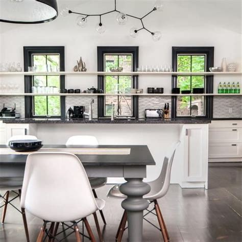 natural modern interiors open kitchen shelves ideas open kitchen shelves and stationary window decorating