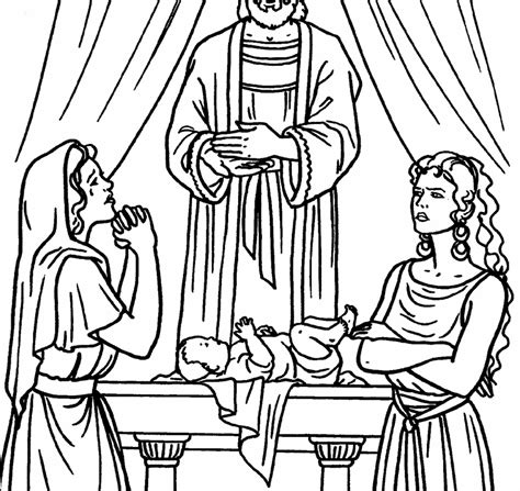 Rebekah And Isaac At The Well Bible Coloring Page Pages Thekindproject