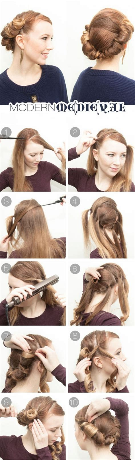how to do medieval hairstyles modern medieval hairstyle diy tutorial alldaychic