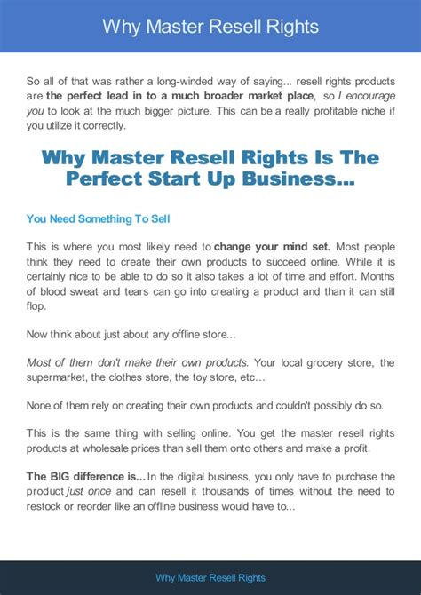 why is it called a master bedroom why master resell rights is the perfect niche
