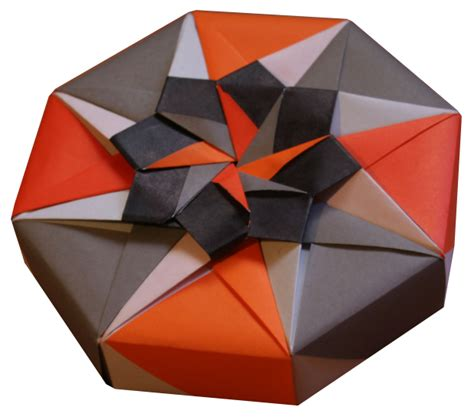 Paper Box Fold - origami octagonal box folding