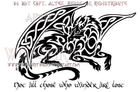 smaug celtic tribal dragon design by wildspiritwolf on
