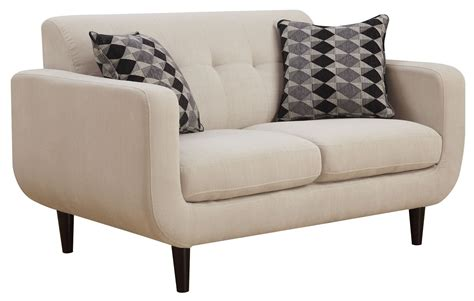 ivory loveseat stansall ivory loveseat from coaster 505205 coleman