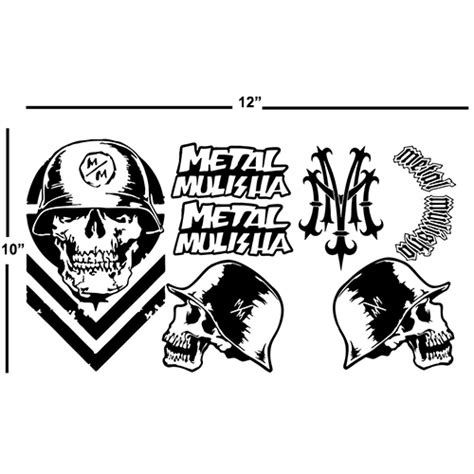 Monster Jam Aufkleber by Metal Mulisha Sheet Laptop Car Truck Vinyl Decal Window