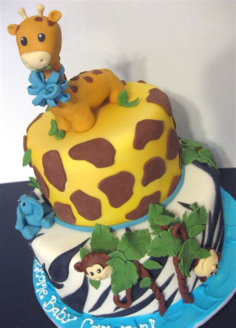 Safari Cakes Baby Shower baby showers and birthdays oakleafcakes