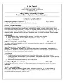 Sales Professional Resume Exles by Sales Professional Resume Template Premium Resume