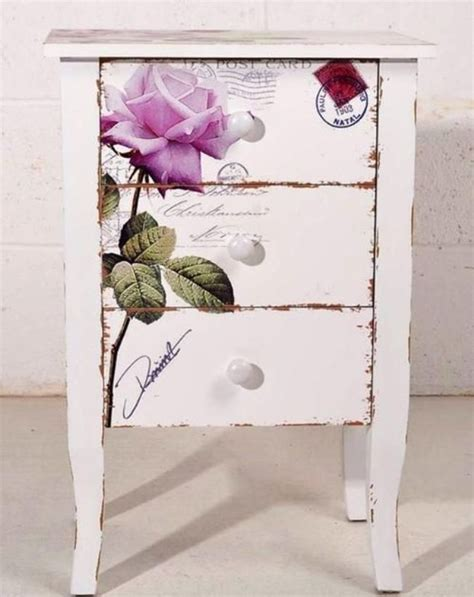 Decoupage Picture - 39 furniture decoupage ideas give things a second