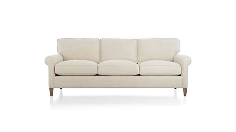 three seater settee montclair 3 seat sofa cream rolled arm sofa crate and barrel