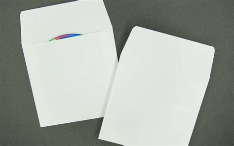 Magic Cd Envelope White cd dvd envelope plain white with flap paper archives bank cards dvds rfid and cd