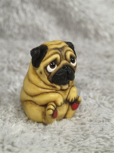 polymer clay pug polymers and etsy shop on