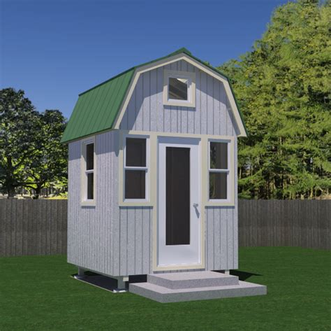 house free free micro gambrel tiny house plans tiny house pins