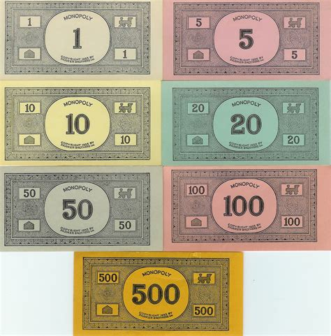 monopoly money colors best photos of printable monopoly money monopoly money
