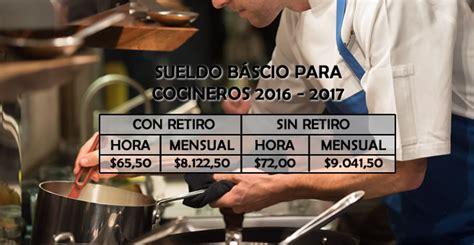 sueldo de cocinero 2016 servicio dom 233 stico sueldo b 225 sico 2016 2017 para cocineros