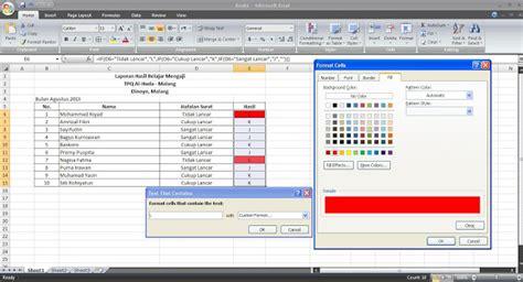 tutorial excel indonesia bagian 6 cara membuat cell otomatis berwarna pada excel tutorial