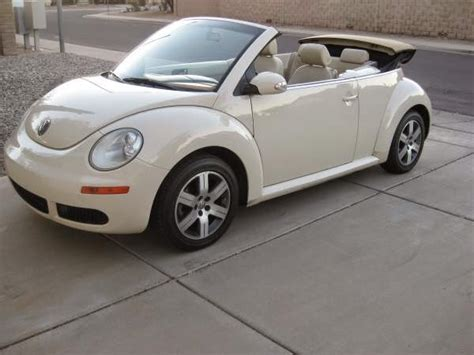 volkswagen beetle white convertible used 2006 vw beetle convertible low miles automatic by owner