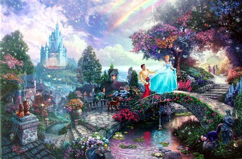 cinderella painting cinderella wishes upon a s kinkade store