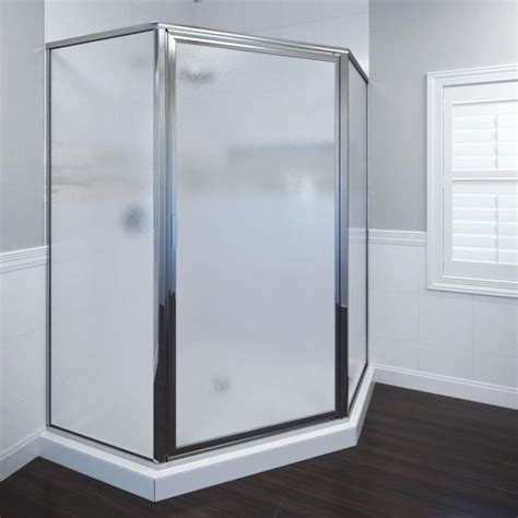 Basco Shower Doors Reviews Shop Basco Framed Silver Shower Door At Lowes