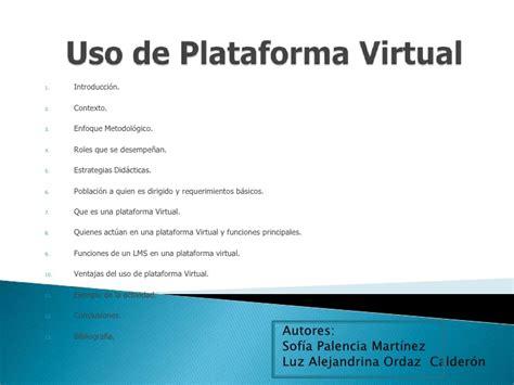 plataforma virtual plataforma virtual 1