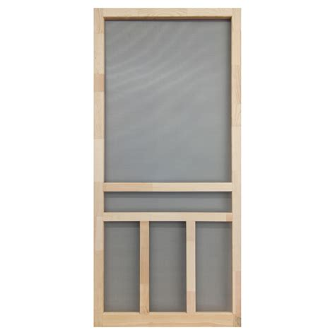 Screen Doors Lowes by Shop Screen Tight Creekside Finger Joint Wood Wood Hinged