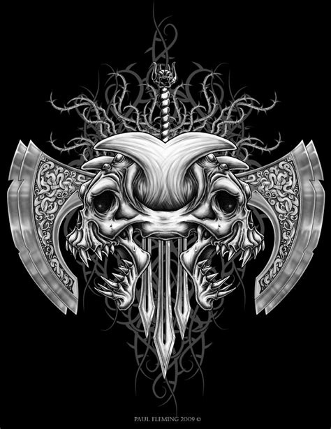 tribal demon skull by oblivion design on deviantart