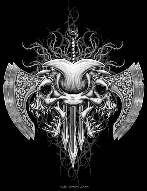 tribal demon skull by oblivion design on deviantart