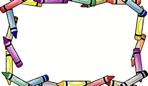 clipart per word crayon border for microsoft word clipart best