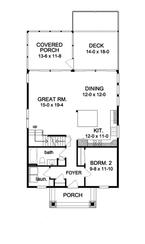 waterfront cottage floor plans traditional style house plan 4 beds 3 baths 2016 sq ft
