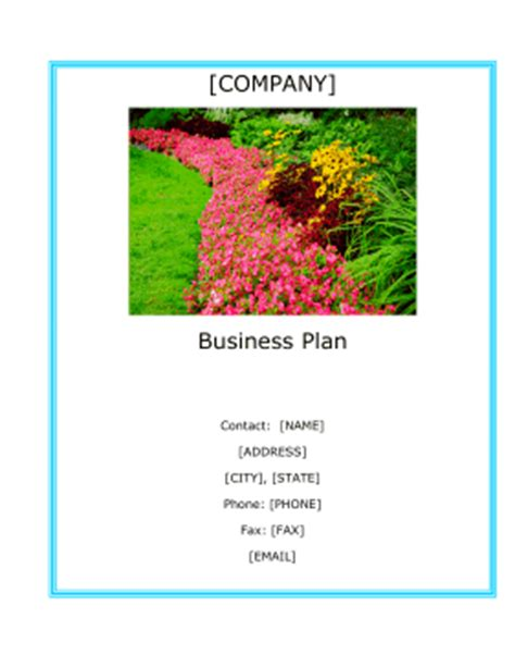 gardening business plan template landscaping company business plan