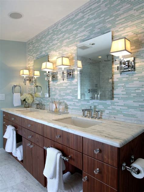 glass tile backsplash bathroom how to clean and maintain glass tiles decoraport