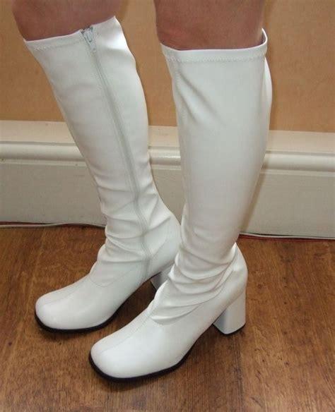 white go go boots white go go boots a walk memory