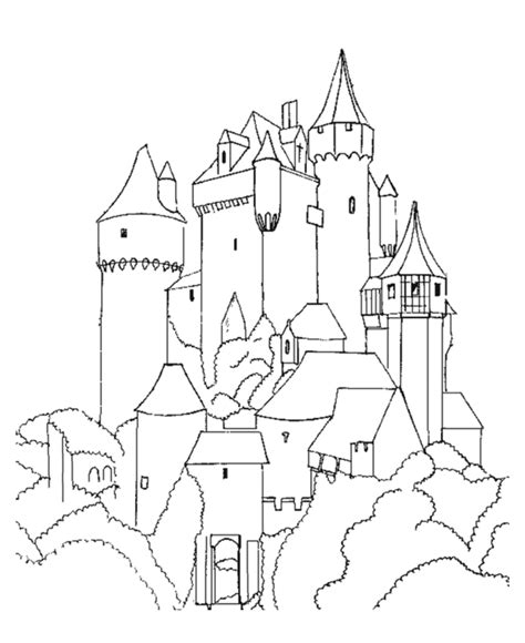coloring page castle coloring pages of castles coloring home