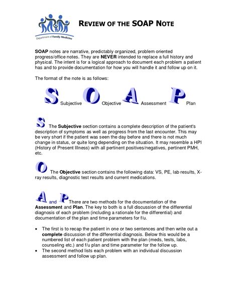 7 best images of printable counseling soap note templates