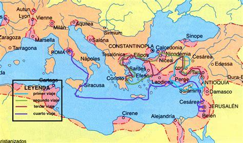cuarto viaje misionero de pablo mapa mapa geogr 225 fico sobre la 233 poca o viajes de pablo somos