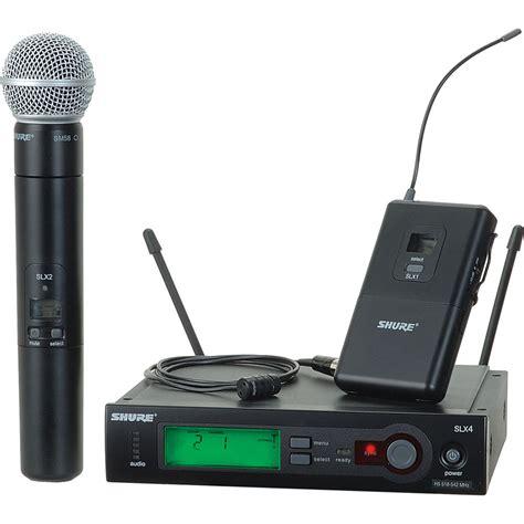 Microphone Wireless Shure Slx 282 shure slx series wireless microphone combo slx124 85 sm58