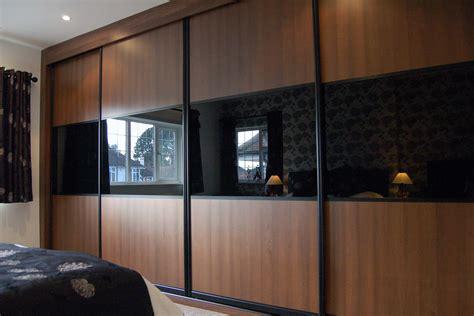 Black Glass Wardrobe Doors Design Your Own Sliding Wardrobe Doors Custom World Bedrooms