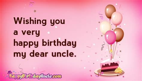 Wishing You Happy Birthday Wishing You A Very Happy Birthday My Dear Uncle