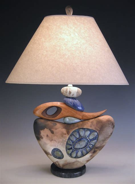 naught  jan jacque ceramic table lamp artful
