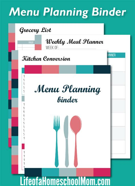 printable planner busy mom free printable busy mom s meal planning binder money