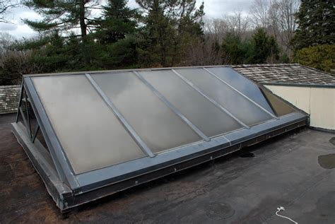 flat roof skylight skylights drains railing posts chimneys scuppers cause