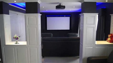 Home Theatre Interior Design by Led Strip Lights The Basics My Home Theatre Build
