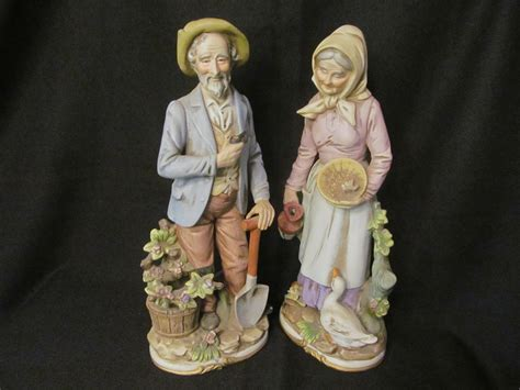 home interior porcelain figurines homco 13 3 4 quot man woman figurines 8816 sold on ruby lane