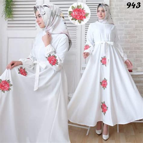 Kirana Jumbo Maxy Dress gamis maxi baloteli bordir 943 butik jingga