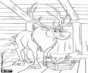 frozen reindeer coloring pages frozen coloring pages printable