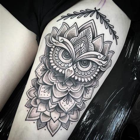 tattoo mandala owl 1859 best owl tattoos uil tattoos images on pinterest