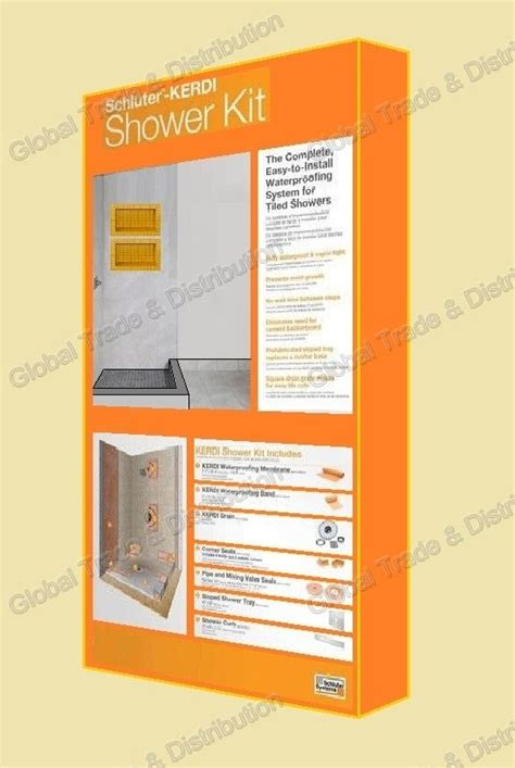 Schluter Shower System Sizes by Schluter Systems Kerdi Shower Kit All Sizes Types