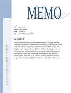 word memo template office memo template sle with big title and blue